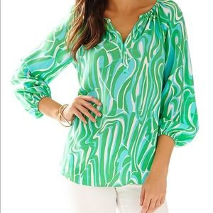 Lilly Pulitzer 100% Silk Blouse